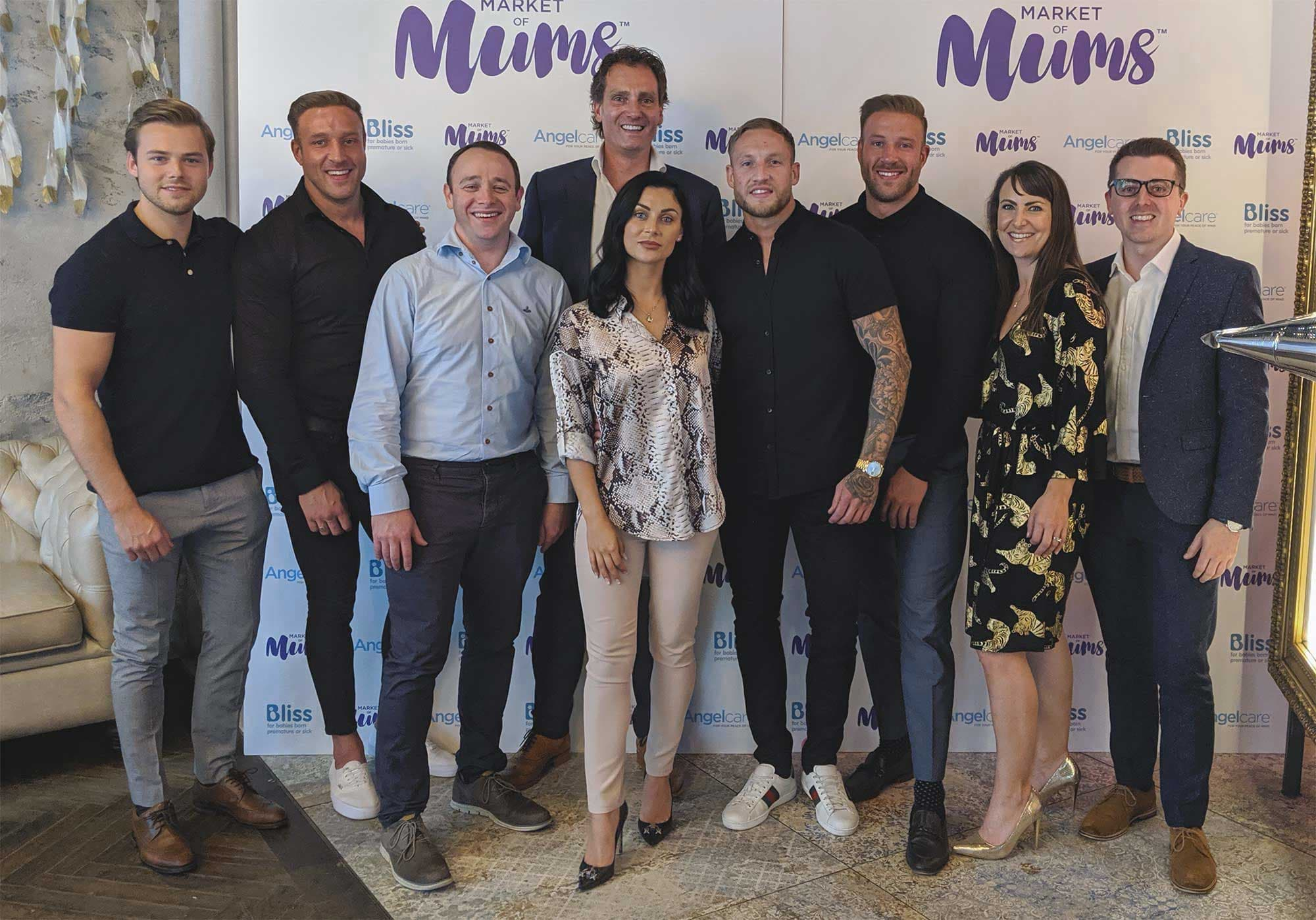 A group photo at the Market of Mums launch party