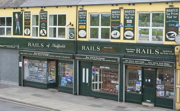 A photo of Rails of Sheffield shop front
