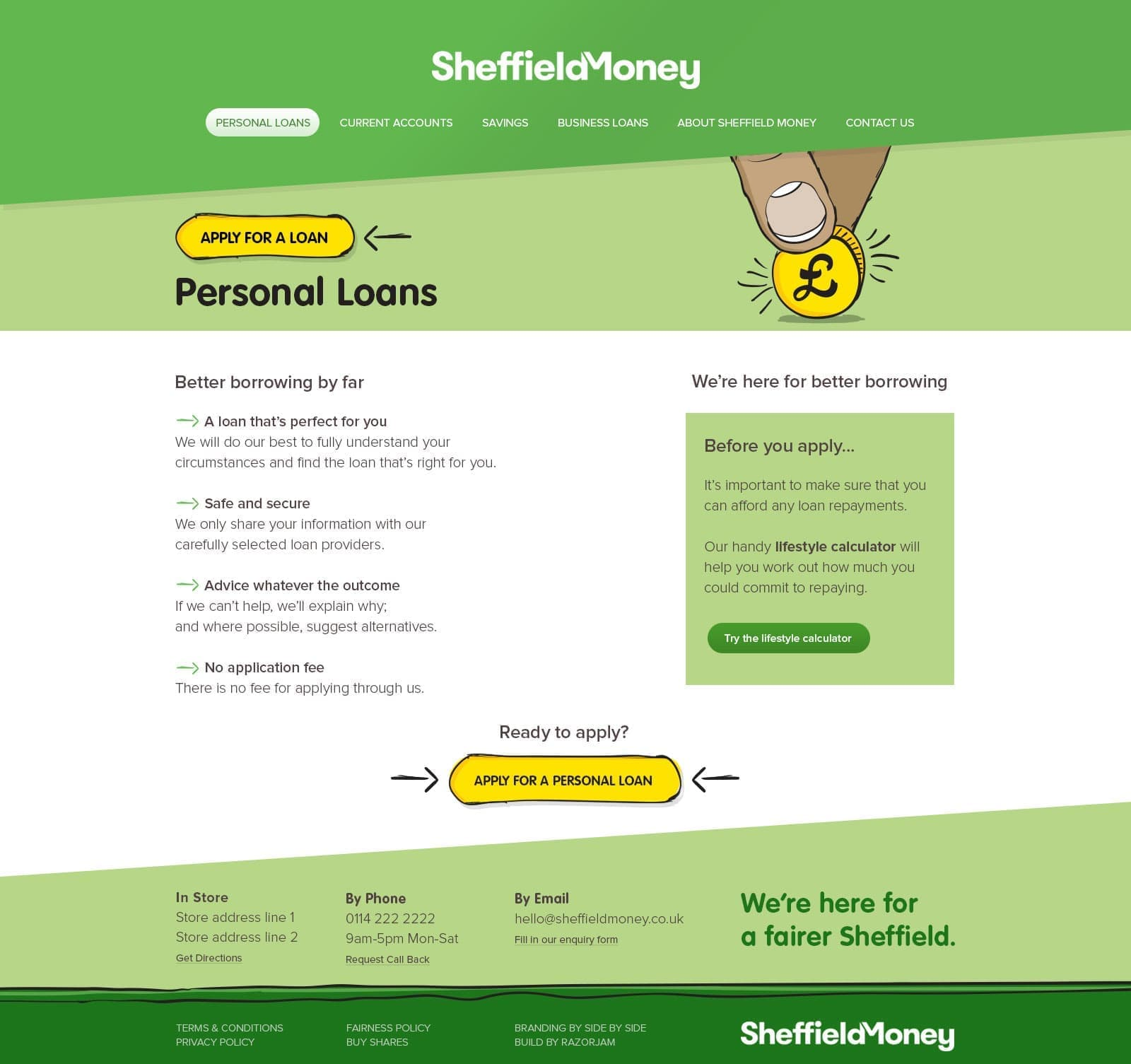 Sheffield Money Personal Loans Finished Page - 1