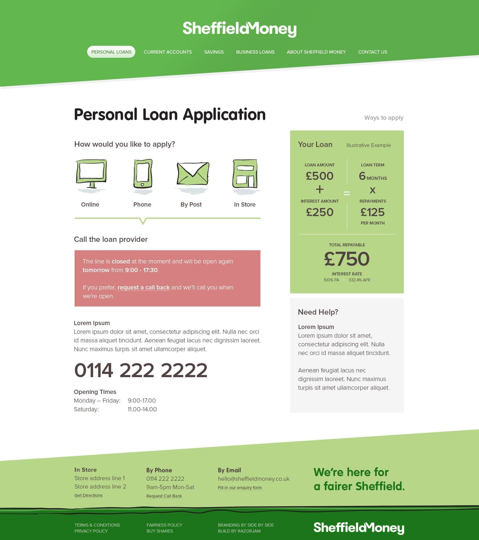 Sheffield Money Personal Loans Finished Page - 3